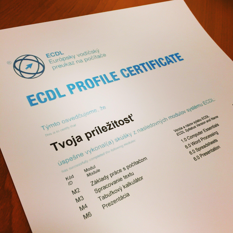 ECDL cert